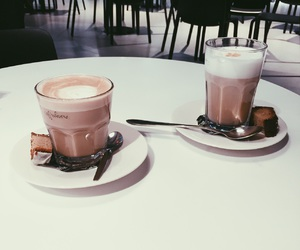 drink, caffee, and cappuccino image