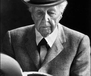 frank lloyd wright, life magazine, and Alfred Eisenstaedt image