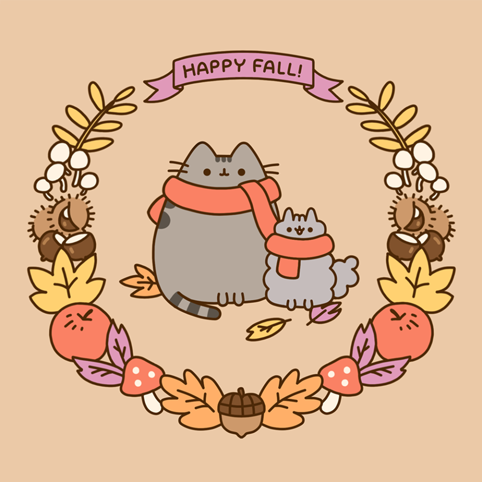autumn, fall, and pusheen image