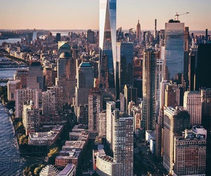 city, new york city, and travel image