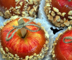 apple, food, and autumn image