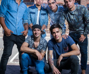 blue, boys, and music image