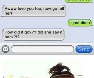 funny, girl, and love image