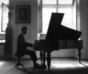 black and white, handsome, and piano image