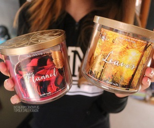 candle, tumblr, and fall image