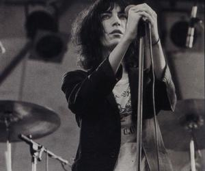 Patti Smith and black and white image