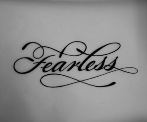 fearless, font, and tattoo image