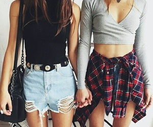 best friends, cool, and fashion image