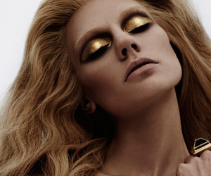 editorial, gold, and beauty makeup image