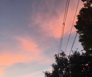 hipster, pink, and sky image