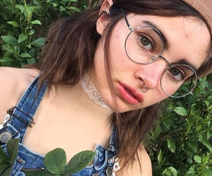 girl, aesthetic, and glasses image