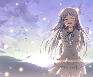 anime, menma, and sad image