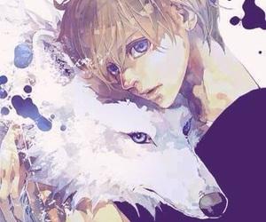 anime, manga, and wolf image