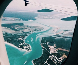 travel, plane, and airplane image