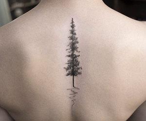 black&white, heart, and tatoo image