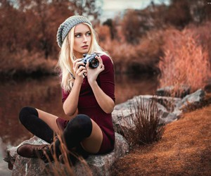 girl, photo, and nature image