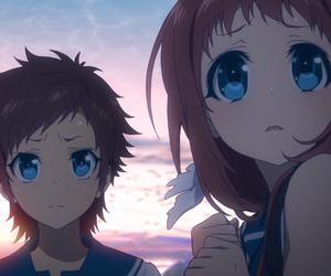 big blue eyes, nagi no asakura, and manaka & hikari image