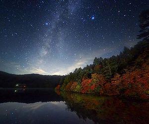 stars, sky, and lake image