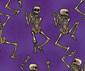 skeleton, purple, and wallpaper image