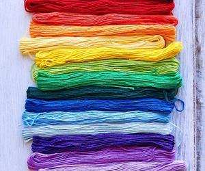 colour, rainbow, and rope image