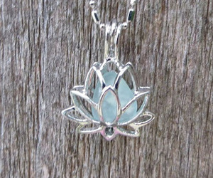 beauty, flower, and necklace image