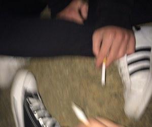 smoke, cigarette, and aesthetic image