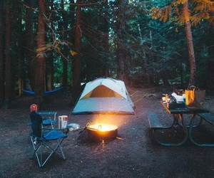 autumn, autumnal, and camping image