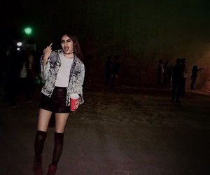 combat boots, concert, and girl image
