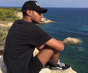 cap, beach, and boy image