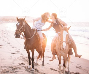 couple, endless, and horse image