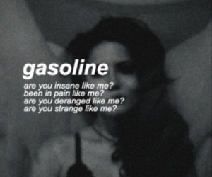 halsey, gasoline, and music image
