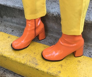 boots, orange, and cool image