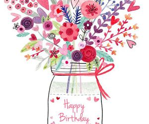 flowers, birthday, and happy birthday image