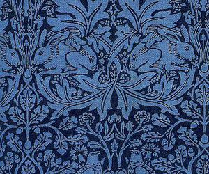 blue, fabric, and rabbit image