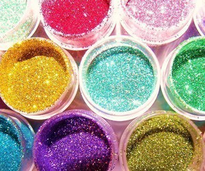 glitter, colors, and pink image