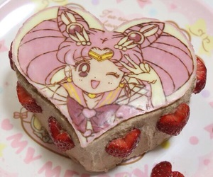 sailor moon, cake, and pink image