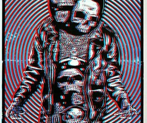 skull, psychedelic, and trip image