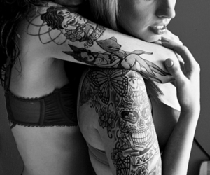 tattoo, girl, and love image