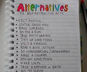 alternative, list, and self harm image