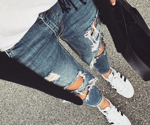 beauty, girly, and jeans image