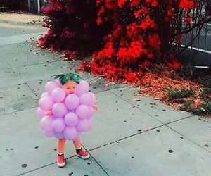 autumn, baby, and ballons image