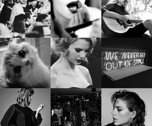 aesthetic, black, and Taylor Swift image