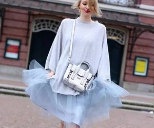 bags, high heels, and tulle skirt image