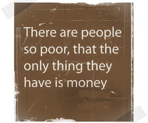 money, poor, and quote image
