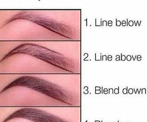 makeup, brows, and eyebrows image