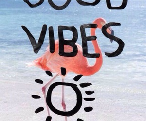 good vibes, wallpaper, and beach image
