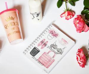 agenda, fashion blogger, and fashion illustration image