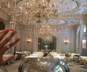 luxury, rich, and chandelier image