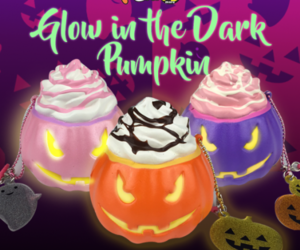 glow in the dark, pumpkin, and squishy image