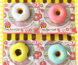 blue, donut, and pink image